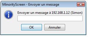 MinorityScreen - Envoyer un message texte