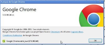 Mise à jour de Google Chrome