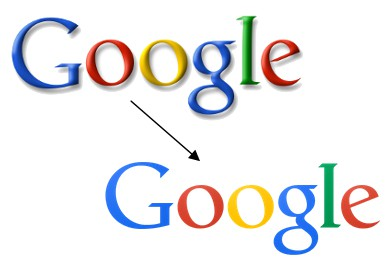 Évolution du logo Google