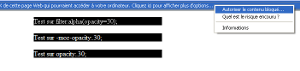 Transparence CSS sous IE7